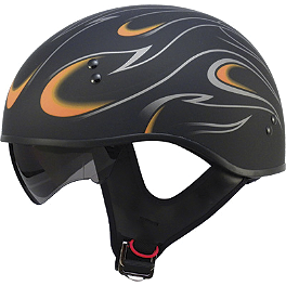 GMAX GM55 Helmet - Naked Flames - Bell Shorty Flames Helmet