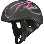 GMAX GM55 Helmet - Naked Ribbon - Motorcycle Half Shell Helmets