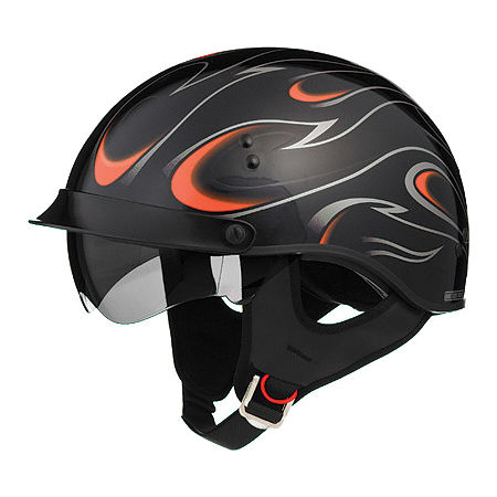 GMAX GM55 Helmet - Full Dressed Flames - Main