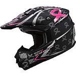 GMAX GM76X Helmet - Pink Ribbon - GMAX Helmets ATV Protection