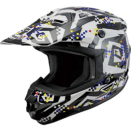 "GMAX GM76X Helmet - Crazy ""G"" - HJC CS-MX Stagger Helmet"