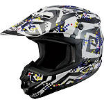"GMAX GM76X Helmet - Crazy ""G"" - GMAX-HELMETS-FEATURED GMAX Helmets Dirt Bike"