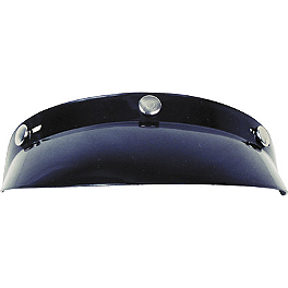 GMAX 3-Snap Bubble Visor For GM2 Helmet - Echo 3-Snap Standard Visor