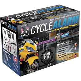 Gorilla Cycle Alarm With 2-Way Paging System - Gorilla Cycle Alarm With 3-Button Remote Transmitter