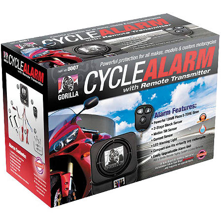 Gorilla Cycle Alarm With 3-Button Remote Transmitter - Main