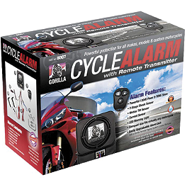 Gorilla Cycle Alarm With 3-Button Remote Transmitter - Bully Alarm Lock With Pager