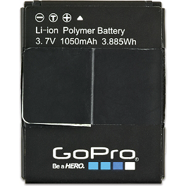 GoPro HERO3 Rechargeable Battery - GoPro Flat + Curved Adhesive Mounts
