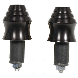 Graves Billet Aluminum Bar Ends - Black - Graves Billet Aluminum Bar Ends - Polished