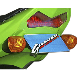 Graves Fender Eliminator Kit - 2004 Kawasaki ZX600 - Ninja ZX-6RR Graves 7 Degree Clip-Ons - 50mm