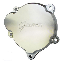 Graves Right Side Idler Case Cover - 1999 Suzuki GSX-R 750 Graves 7 Degree Clip-Ons - 50mm