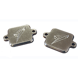 Graves Smog Block Off Plates - 2008 Kawasaki ZX1000 - Ninja ZX-10R Graves 7 Degree Clip-Ons - 50mm