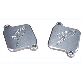 Graves Smog Block Off Plates - 2003 Suzuki GSX-R 750 Graves 7 Degree Clip-Ons - 50mm