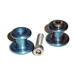 Graves Swingarm Spools - 6mm - 2010 Yamaha YZF - R6 Woodcraft Aluminum Swingarm Spools - 6mm