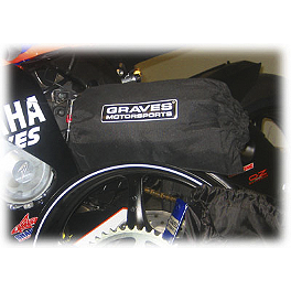 Graves Motorcycle Racing Tire Warmer Set - 2010 Ducati Monster 696 Graves 7 Degree Clip-Ons - 50mm