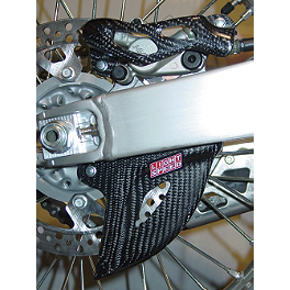 GYTR LightSpeed Carbon Fiber Rear Caliper & Disc Guard - GYTR Titanium Footpegs