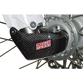 GYTR LightSpeed Carbon Fiber Right Fork Lug Cover - 2012 Yamaha YZ125 GYTR LightSpeed Carbon Fiber Rear Caliper Guard