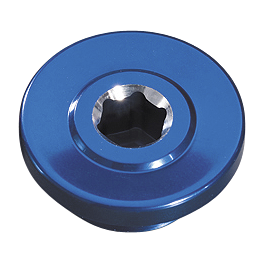 GYTR Oil Fill Cap - Blue - GYTR Magnetic Oil Drain Plug - Blue