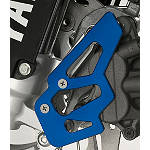 GYTR Billet Front Brake Caliper Guard - Blue - Yamaha GYTR Dirt Bike Parts