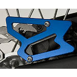GYTR Billet Rear Brake Caliper Guard - Blue - Yamaha GYTR Dirt Bike Parts