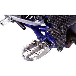 GYTR Titanium Footpegs - GYTR Billet Oversized Footpegs - Blue