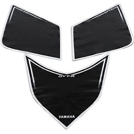 GYTR Number Plate Backgrounds - Black - 2009 Yamaha YFZ450 GYTR Bill Ballance Front Grab Bar