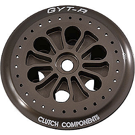 GYTR Billet Clutch Pressure Plate - Applied Factory R/S Triple Clamp Set With Oversized Bar Mounts - 25mm Offset - Black
