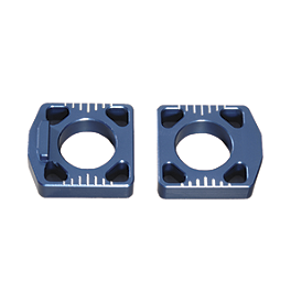 GYTR Billet Offset Axle Blocks - Bolt Axle Blocks - Blue