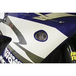 Hotbodies Racing Flush Mount LED Turn Signal - Smoke - 2003 Suzuki GSX-R 750 Hotbodies Racing Rear Tire Hugger - White