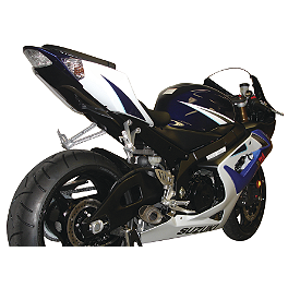 Hotbodies Racing Megaphone Slash Cut Slip-On Exhaust - Stainless Steel - 2007 Suzuki GSX-R 600 M4 GP Series Slip-On Exhaust - Black