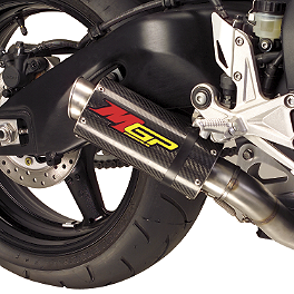 Hotbodies Racing MGP Growler Slip-On Exhaust - Carbon - 2008 Kawasaki ZX1000 - Ninja ZX-10R M4 GP Series Slip-On Exhaust - Black