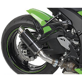 Hotbodies Racing MGP Growler Slip-On Exhaust - Carbon - 2011 Kawasaki ZX1000 - Ninja ZX-10R M4 GP Series Slip-On Exhaust - Black