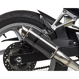 Hotbodies Racing MGP Growler Slip-On Exhaust - Carbon - 2011 Honda CBR250R Hotbodies Racing ABS License Plate Tag Bracket