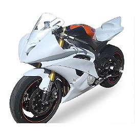 Hotbodies Racing Fiberglass Race Bodywork Set - Unpainted - 2011 Yamaha YZF - R6 Hotbodies Racing Color Form Race Bodywork