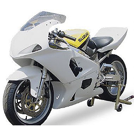 Hotbodies Racing Non SRAD Fiberglass Race Bodywork Set - Unpainted - 2000 Suzuki GSX-R 600 Hotbodies Racing Non SRAD Fiberglass Race Tail - Unpainted