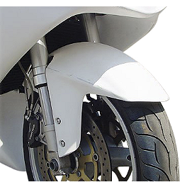 Hotbodies Racing Non SRAD Fiberglass Race Front Fender - Unpainted - 2003 Suzuki GSX-R 750 Hotbodies Racing Rear Tire Hugger - White