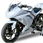 Hotbodies Racing Fiberglass Race Front Fender - Unpainted - Suzuki SV650 Motorcycle Body Parts