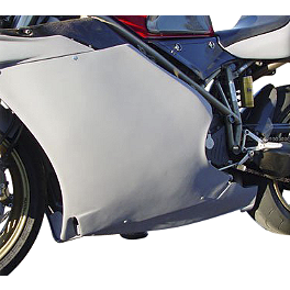 Hotbodies Racing Fiberglass Race Lower - Unpainted - 2002 Ducati 998S Hotbodies Racing Fiberglass Race Bodywork Set - Unpainted