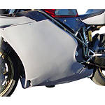 Hotbodies Racing Fiberglass Race Left Middle - Unpainted - Hotbodies Racing Motorcycle Body Parts