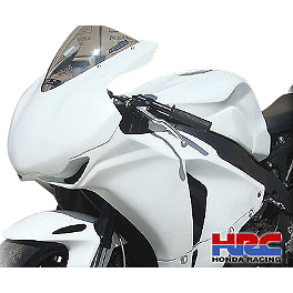 Hotbodies Racing HRC Fiberglass Narrow Race Tank Cover - Unpainted - Yana Shiki Fairing Mirror Bracket
