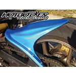 Hotbodies Racing Rear Tire Hugger - Candy Plasma Blue - Dirt Bike Fenders