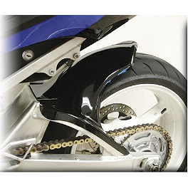 Hotbodies Racing Rear Tire Hugger - Black - 2008 Suzuki GSX-R 600 Puig Rear Tire Hugger - Black