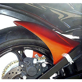 Hotbodies Racing Rear Tire Hugger - Candy Max Orange - Hotbodies Racing MGP Growler Slip-On Exhaust - Carbon