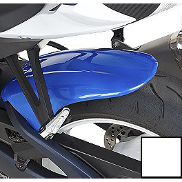Hotbodies Racing Rear Tire Hugger - Pearl Mirage White - 2011 Suzuki GSX-R 600 Hotbodies Racing SS Stock Replacement Windscreen