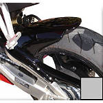 Hotbodies Racing Rear Tire Hugger - Silver - Dirt Bike Fenders