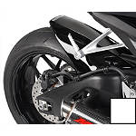 Hotbodies Racing Rear Tire Hugger - White - Motorcycle Fenders