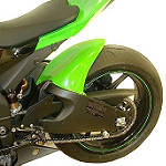 Hotbodies Racing Rear Tire Hugger - Green - Dirt Bike Fenders