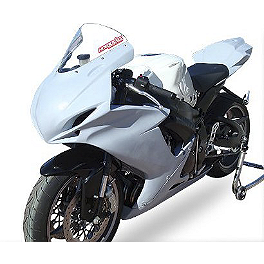 Hotbodies Racing Fiberglass Race Upper - Unpainted - 2011 Suzuki GSX-R 600 Hotbodies Racing SS Stock Replacement Windscreen