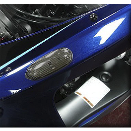 Hotbodies Racing Turn Signal/Mirror Block-Off Smoke - Rumble Concept Backdraft LED Turn Signals - Pearl Splash White