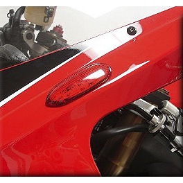 Hotbodies Racing Turn Signal/Mirror Block-Off Red - 2008 Suzuki GSX-R 600 Circuit 1 Mirror Plates