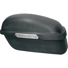 Hardstreet Classic Saddlebags With Mounting Holes - Yamaha Star Accessories Deluxe Hard Sidebag Trim Rails